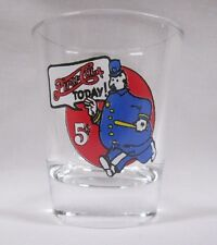 Pepsi-Cola Cop Logo on Clear Shot Glass