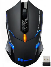 Wireless Gaming Mouse Ergonomic LED Silent Click 7 Buttons Mice Optical USB PC