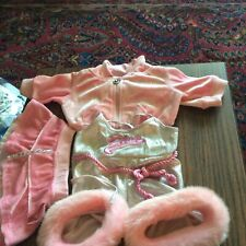 Build-a-Bear Pink Workout Set. 3 Pieces. New Without Tags. Hoodie, Skirt, Fur li