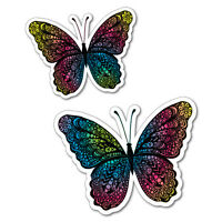 Colourful Rainbow Butterflies Sticker Decal Stickers Pet Art Laptop