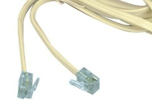 NEW 1M LONG 4P4C RJ10 TO RJ45 CABLE, STRAIGHT THROUGH WIRED (1234 TO 3456)