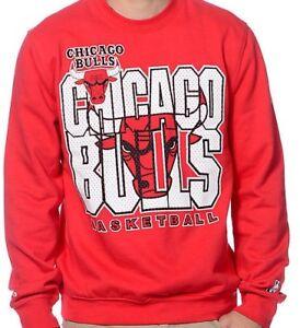 CHICAGO BULLS SWEATSHIRT.  MITCHELL & NESS.  RED