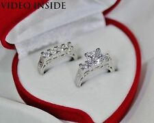 Engagement Excellent Sterling Silver Fine Diamond Rings