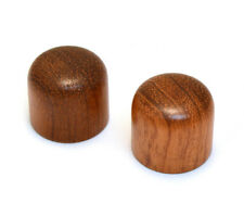 (2) Bubinga Wood Dome Knobs for Guitar/Bass for 6mm Split Shaft WDMK-B