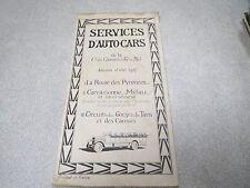 Brochure Cie Chemin de Fer du Midi SERVICES D AUTO CARS SAISON D ETE 1927 *