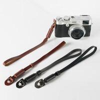 Black / Brown PU nylon & leather Camera Wrist Hand Strap Grip for Canon Sony Nik