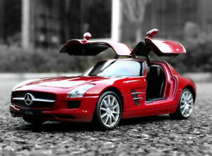 WELLY 1:24 AMG Diecast Alloy Car Model Kids Boys Toys Gift For Mercedes-Benz SLS