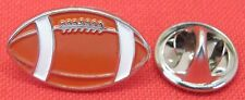 American Football Rugby Ball Lapel Hat Cap Tie Pin Badge Gridiron Brooch