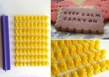 Alfabeto Número Letra Cortador de galletas sello de galletas herramientas de estampador Cake Mold