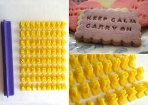 Alphabet Number Letter Cookie Biscuit Stamp Cutter Embosser Cake Mould Tools