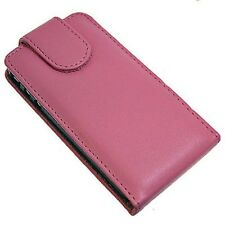 Apple iPhone 4G Leather Flip Case (Pink)