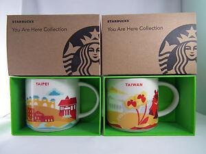 Starbucks YAH Taiwan and Taipei City Mugs 14oz  NEW