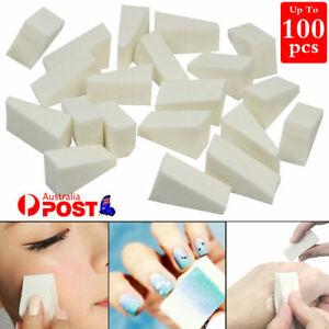 Makeup Sponge Cosmetic Wedges Nail Art Blend Foundation Contour Facial Puff AU