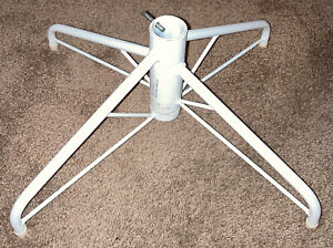 """Sturdy Large Metal Artificial Christmas Tree Stand Holder White 19x14"""" Base"""