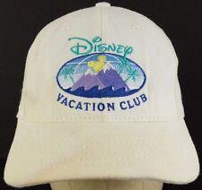 Disney Vacation Club White Baseball Hat Cap with Cloth Strap Adjust