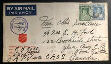 1943 CAPO Newfoundland Salvation Army Censored Cover To Grace Bay Canada