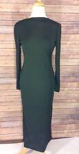Joan and David Green Vintage Long Sleeve Sheer Dress Size 8