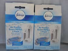 Febreze - Air Purifier Scent Refills, (2pk bundle = 4 disk) fresh & new items