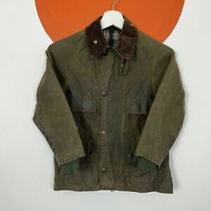 Barbour Bedale Waxed Cotton Jacket Coat Wax Khaki Green Boys Kids 61cm/ 24in