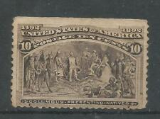 USA1897 MNH  Columbus presenting Natives 10c black brown Sco#(2011)237  Cat.$325