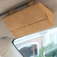 1*Glasses Case Car Sunshade Visor Holder Clips Sunglasses Box Storage Box