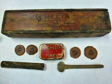 Very Early 1907 ? Michelin Tire Repair Kit Tin Steam / Brass Era Car Automobile