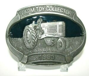 Oliver 77 Tractor 1999 Farm Toy Collector Pewter Belt Buckle Spec Cast Lt Ed 8th