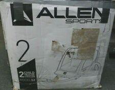 "Used Allen Sports Deluxe 2-Child Bike Trailer Green Folding Design 16"" Wheels"
