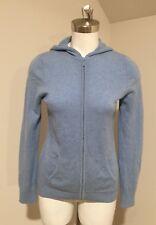 Women's L.L.Bean 100% Cashmere Zip Up Hooded Cardigan Sweater Size Medium M
