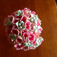 Vintage Millinery Flowers Forget Me Not Pink Cluster for Hat Wedding + Hair P1