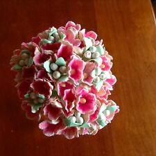 VTG Millinery Flowers Forget Me Not Bunch Pink Cluster for Hat Wedding + Hair P1