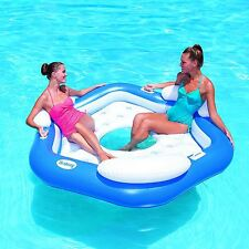 BESTWAY X3 ISLAND SWIMMING POOL LOUNGER FLOAT CHAIR