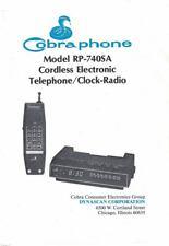 Cobra Phone RP-740SA Cordless Electronic Telephone Clock Radio Owners Manual