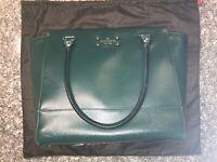 Hunter green leather Kate Spade Handbag