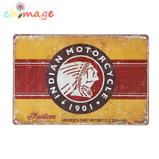 Indian Motorcycle 1901 Tin Sign Bar pub home Wall Decor Retro Metal Poster