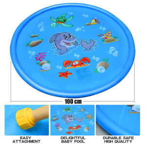 """40"""" Inflatable Spray Splash Water Mat Kids Pad Outdoor Pool Beach Lawn Play Toy"""