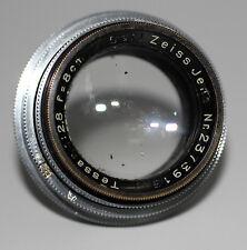 CARL ZEISS JENA Objektiv Lens TESSAR 2,8/80 f= 8cm für KORELLE Kamera