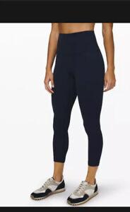 "Authentic Lululemon Women's Align Pant 25""  Nulu LW5BEJS TRNV Navy Blue Size 10"