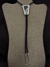 Sterling Silver Southwestern Malachite Bolo Tie