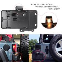 Rear License Number Plate Holder Bracket w/LED Light For Jeep Wrangler 2007-2016