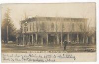 RPPC Bartlett House Hotel COVINGTON PA Tioga County Real Photo Postcard