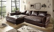 Big Sofa Vintage Stoff verschiedene Farben Ecksofa schwarz hellbraun dunkelbraun