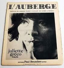 Partition sheet music JULIETTE GRECO : L'auberge * 60's