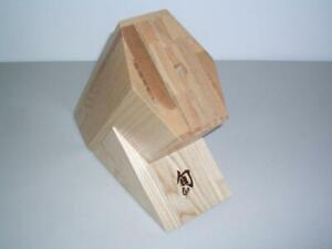 Shun Meiji 8 Slot Hardwood Knife Block Bob Kramer Reserve Fuji Golden Oak