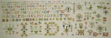 DUTCH FRISIAN COMPLETED CROSS STITCH SAMPLER REPRODUCTION ANTIQUE 18TH C. STYLE