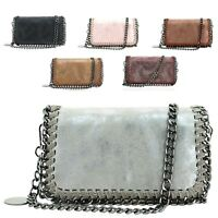 Ladies Metallic Chain Edge Woven Clutch Bag Evening Party Purse Handbag GN60527