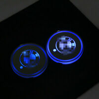 2PCS LED Car Cup Bottle Holder Pad Mat for BMW Auto Interior Atmosphere