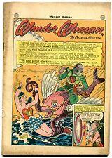 Wonder Woman #15 1945- DC Golden Age rare- Coverless reading copy
