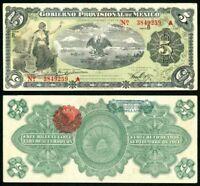 1914 Gobierno Provisional De Mexico Veracruz 5 Pesos Banknote P# S1104a XF+