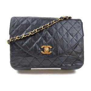 Chanel Shoulder Bag  Black Leather 2402038